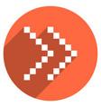arrow sign digital display circle icon vector image