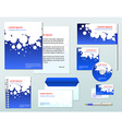 Blue corporate identity template company style for vector image