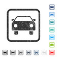 car icon rubber watermark vector image