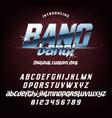 cool italic typeface bang bang vector image