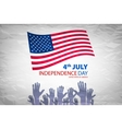 independence day over gray background vector image