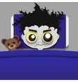 insomnia open eyes vector image