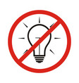 no new idea circle prohibited road sign isolated vector image