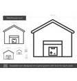 warehouse line icon vector image
