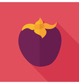 Persimmon flat icon Tropical fruit vector image