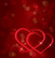 Sparkling hearts background vector image vector image