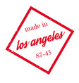 made in los angeles rubber stamp vector image