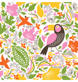 seamless floral background with birds vector image vector image