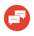 communication bubble speech dialog message vector image