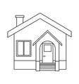 house facade residence stairs door window vector image vector image