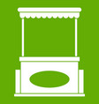 street kiosk icon green vector image