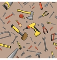 Carpenter tools seamless pattern vector image