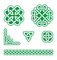 Celtic knots green patterns - vector image