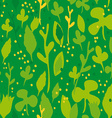 Set of funny leaves Seamless pattern on a green vector image