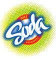 Soda logotype vector image