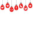 egg symbol hang vector image vector image