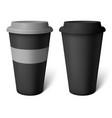 Mockup black coffee cup vector image