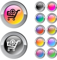 Add to cart multicolor round button vector image vector image