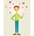 Boy in Love vector image