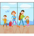 family goes on a trip vector image