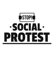 social protest logo simple black style vector image