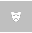 tragedy mask computer symbol vector image