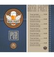 beer menu jeans vector image vector image