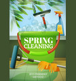 spring cleaning poster vector image