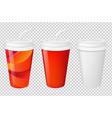 paper glasses set vector image