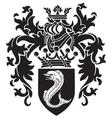 heraldic silhouette No3 vector image vector image
