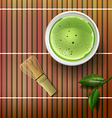 matcha tea vector image
