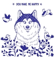 Husky positive vector image vector image
