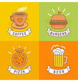 linear food labels vector image