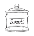 Candy jar vector image