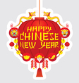Chinese New Year Red Lantern Decoration Label vector image