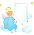 cloud angel vector image