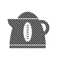Electric kettle sign vector image