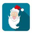 icon Santa flat style vector image
