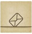 Mail envelope symbol old background vector image