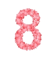 number eight from hearts vector image