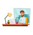 programmer man development working man vector image