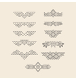 Set of Vintage Graphic Elements for Design Border vector image