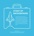 Start up background vector image