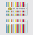 Striped credit card vector image