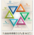 Business infographic chart template six triangle vector image