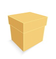 empty brown paper box isolated vector image