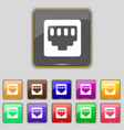 cable rj45 Patch Cord icon sign Set with eleven vector image