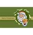 Santa Claus holding box with gift Christmas vector image