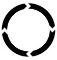 Rotation Flat Icon vector image