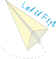 Let It Fly vector image